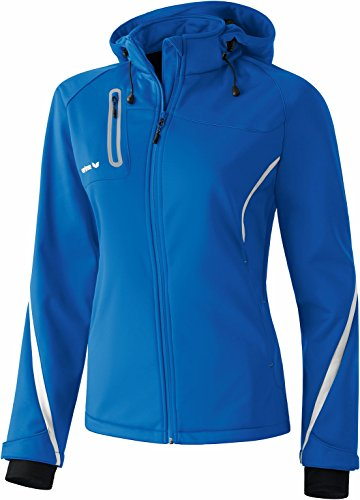 Erima Damen Softshelljacke Function, New Royal/Weiß, 38