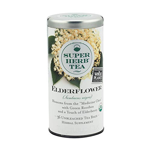 REPUBLIC OF TEA Organic Elderflower Superherb, 36 Count
