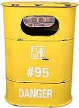 MSGMZF Trash Bin Retro Style Wrought Iron Oil Barrel Trash Can Storage Box Personalized Creative Fashion Bar Coffee Shop R...