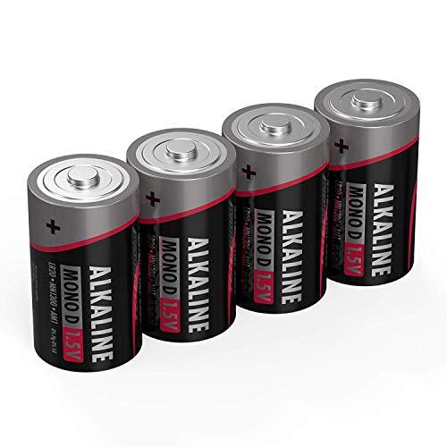 ANSMANN Batterien Mono D LR20 4 Stück 1,5V - Alkaline Batterie langlebig & auslaufsicher - Ideal für Spielzeug, LED Taschenlampe, Radio, Modellbau uvm