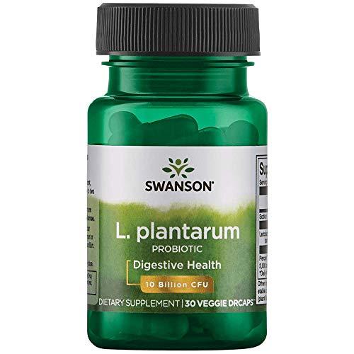 Swanson L. Plantarum Probiotics Bowel Regularity Gas Bloating Immune Support Gastrointestinal Balance 10 Billion CFU Supplement 30 Veggie Capsules