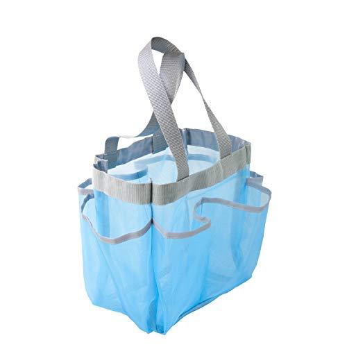 Honey-Can-Do SFT-01103 - Borsa per doccia ad asciugatura rapida, 7 tasche, in plastica, colore: Blu
