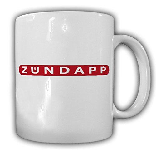 Zündapp Schriftzug Logo Wappen Abzeichen Motorrad Werke GmbH Mofa Tasse #17023