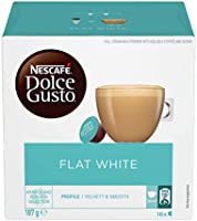 NESCAFE Dolce Gusto Flat White Coffee Pods, 16 Capsules (16 Serves), 187g