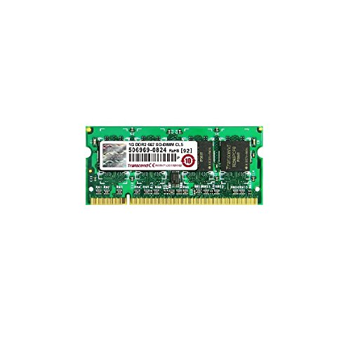 Transcend JM667QSU PC RAM DDR2 SODIMM PC 667Mhz CL5 2-5300S 1 GB
