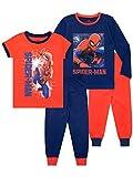Marvel - Ensemble De Pyjamas Lot de 2 - Spiderman - Garçon - Bien Ajusté - Multicolore -...