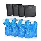 UTEBIT Sandsack Maße 52x5x25cm für Sand,Kies oder Steine,Wasser Sandtasche mit Haken Set von Vier...