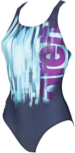 ARENA W Spirit Swim Pro Back One Piece - Bañador Deportivo para Mujer, Color Navy/Turquoise, Talla 48