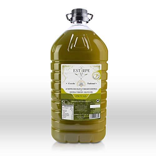 Aceite de Oliva Virgen Extra Premium Estirpe Sin Filtrar -PICUAL (5 Litros)