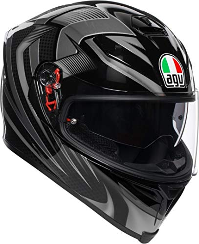 AGV Casco integrale K-5 S MULTI PLK Hurricane 2.0 MS Nero/Titanio