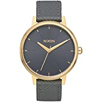 Nixon Women's Kensington Stainless Steel Watch with Leather Band (Gray)