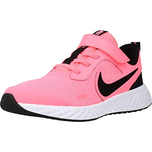 Nike Revolution 5 (PSV) Laufschuh, Sunset Pulse/Black-White, 34 EU