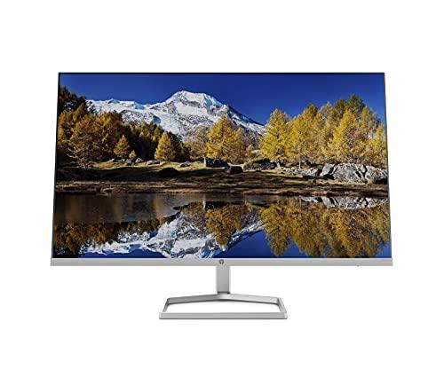 HP M27fq Monitor - 27 Zoll Bildschirm, QHD Display, 75Hz, 5ms Reaktionszeit, VGA, 2xHDMI, Displayport, silber/schwarz