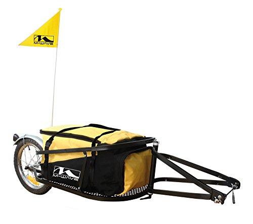 Shimano Einspur-Fahrradanhänger M-Wave Single 40, schwarz, gelb