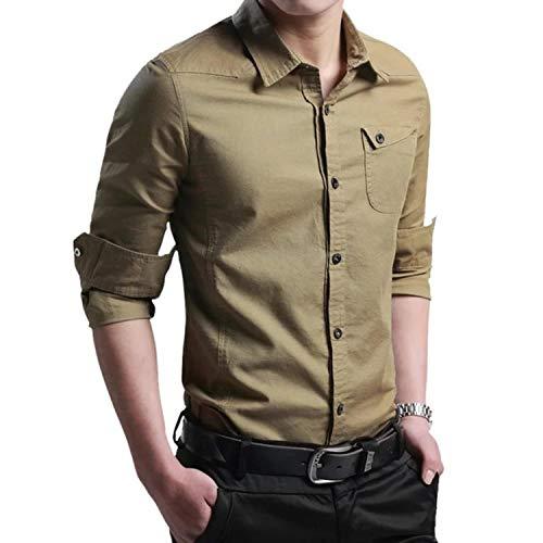 Shirts for Men New Thin Breathable Military Men Shirts Long Sleeve Slim Men's Shirts Summer 2019 Business Men