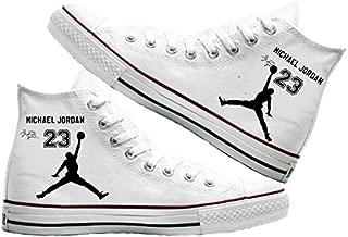 Art T-Shirt -MJ 23 Baskılı Unisex Canvas Ayakkabı