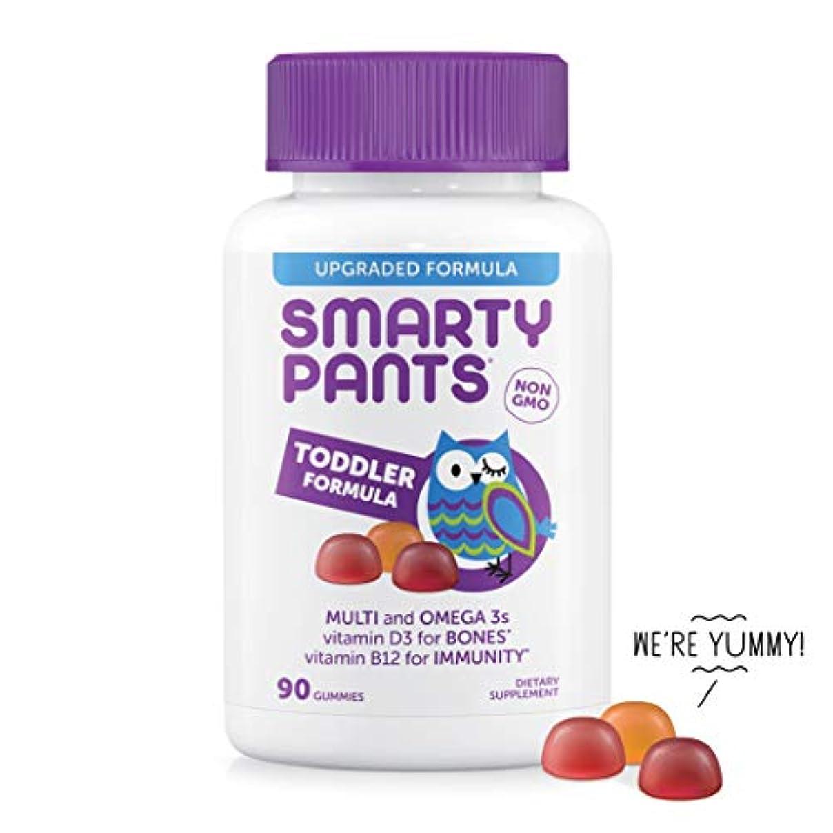 SmartyPants Toddler Formula Daily Gummy Vitamins: Gluten Free, Multivitamin & Omega 3 Fish Oil (DHA/EPA), Methyl B12, Vitamin D3, Vitamin B6, 90 Count (30 Day Supply) - Packaging May Vary gi71294469123
