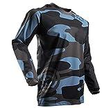 123Rui Jerseys de ciclismo de manga larga para hombres [Cómodos, ligeros, de secado rápido] que absorben la humedad [Camuflaje - Grande]