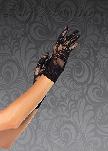 Struts Fancy Dress Gants de Dentelle Noire Womens Style années 1940