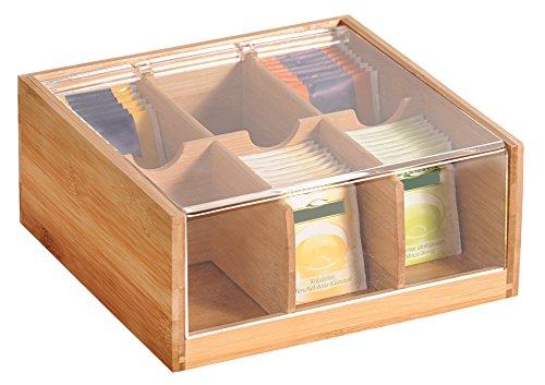 Kesper Tee-Box, Bambus, Braun, 22 x 21 x 9.5 cm