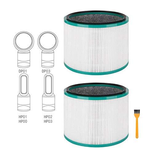 Paquete de 2 filtros HEPA de repuesto para Dyson Pure Cool Link DP01, DP02 y para Dyson Pure Hot + Cool Link HP01, HP02, parte # 968125-03# 305214-01# 305214-01