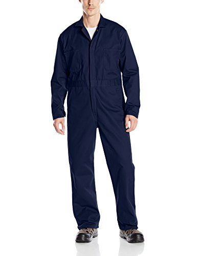 Red Kap Men's Snap Front Cotton Coverall, Oversized Fit, Long Sleeve, Navy, 44
