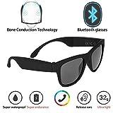 Gafas de Sol polarizadas Bluetooth Auriculares de conducción ósea Gafas Inteligentes Salud Deportes Micrófonos y micrófono inalámbricos,Black