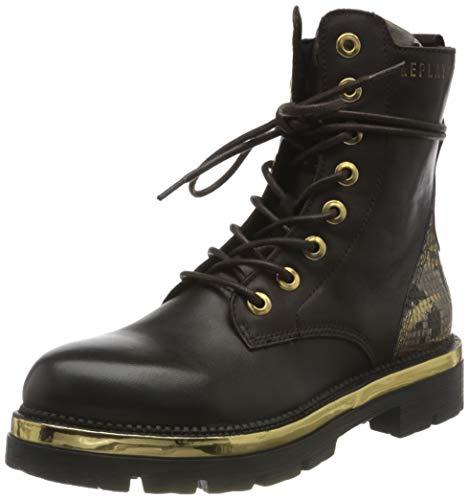 Replay Damen HEGON Mode-Stiefel, 586 DK BRN Gold, 41 EU