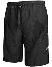 Santic Men's 4D Padded Bikes Shorts Loose Comfort Breathable Fitting Mountain Bike Shorts Grey