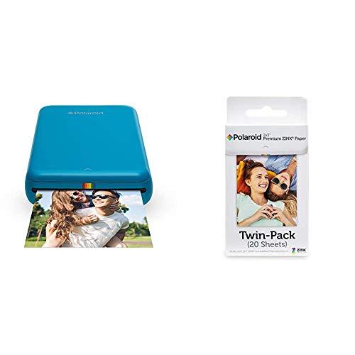 Polaroid ZIP, Stampante Portatile, Bluetooth, w/ZINK Tecnologia Zero Ink Printing, 5 x 7.6 cm & Premium Zink Carta Fotografica Compatibile con Polaroid Zip, Snap, Snap Touch, Z2300