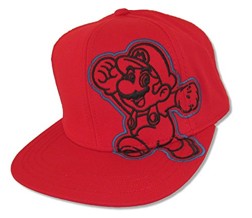 Bioworld Super Mario Mario Side Image Red Snapback Cap Hat