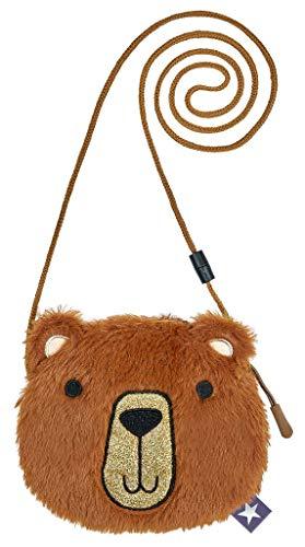 moses. Mädchen Plüschtasche Teddybär Reisezubehör- Brustbeutel, braun, klein