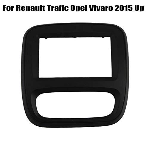 PSOIHGTFS Radio Fascia Panel DVD Doble DIN Car Dash Fit Kit para Renault Trafic Opel Vivaro 2015 hasta Auto Estéreo Instalación del Panel del Tablero de Instrumentos,173 * 98mm