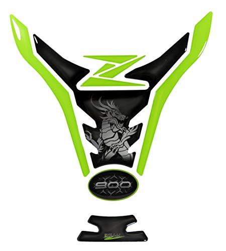 BIKE-label 502923-VA - Protector para depósito de moto compatible con Kawasaki Z900, color verde