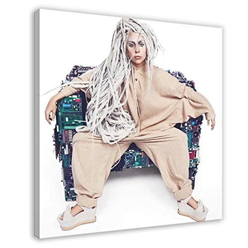 Poster Lady Gaga très connu avec la chanteur féminine actrice 43, décoration de chambre, de sport, paysage, décoration de bureau, cadre cadeau : 50 × 50 cm
