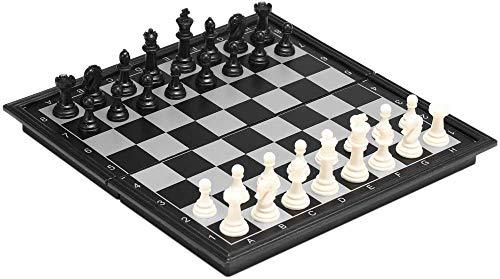 Juego de ajedrez Plegable y fácil de Llevar, Ideal para niños y Adultos. (Grande)