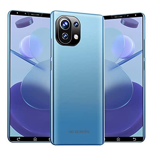 GELEI Smartphone Libre, Cámara Triple Ultra De 32 MP+16MP, Pantalla Completa LED Superior De 5,5', Carga De 4800Mah Batería, Dual Sim, 4+64GB,Azul