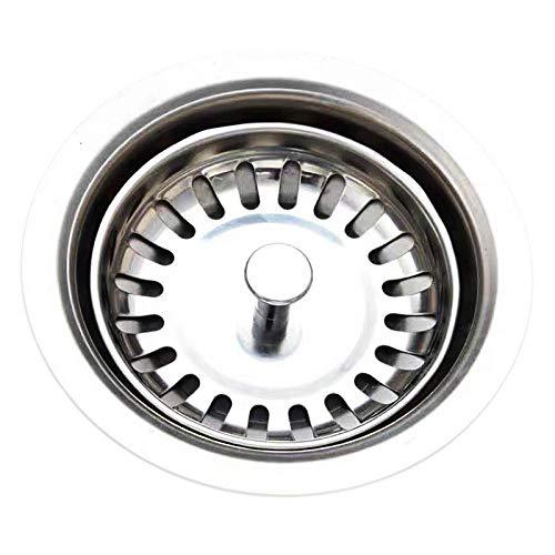 KOUDOU Tappo del Filtro per lavello da Cucina, Tappi per lavello in Acciaio Inossidabile 304 Adatto per Foro lavello da Cucina di Diametro 78~80 mm
