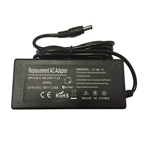 KoelrMsd Cargador Adaptador de Corriente para Ordenador portátil para Toshiba Satellite L500 L650 L670 L750D L850