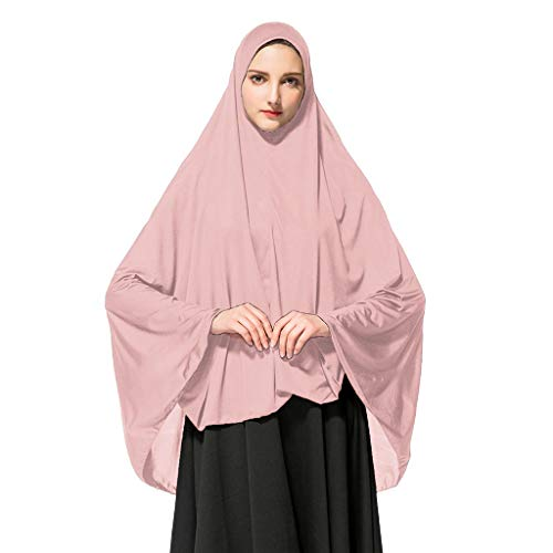 HEETEY Bufanda para mujer, khimar listo, larga Hijab con Under Scarf para llevar, larga, monocromo