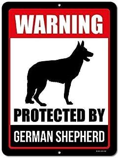 Yuandan Beware of Dog Sign Warning Protected by German Shepherd 8