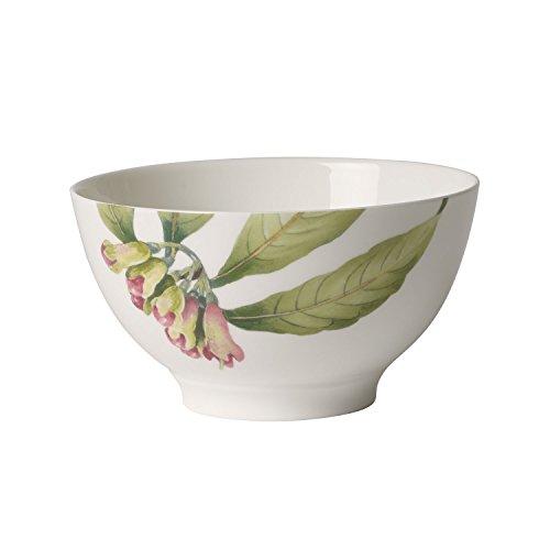 Villeroy & Boch Malindi–Cuenco, edlem Premium Bone Porcelana, Verde, Rojo, Color Blanco, 12x 12x 8cm, 750ml Bol
