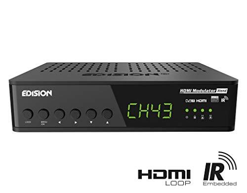 Edision - Modulador HDMI (HDMI a DVB-T, Loop, RF Loop, Steurung, señal infrarroja a través de Cable coaxial, Plug & Play, Full HD, HDTV, DVB-T MPEG4, función USB Pre-Conaj)