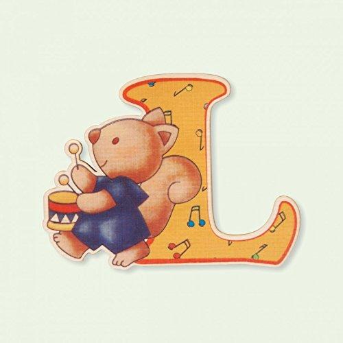 Dida - Lettre L Bois Enfant - Lettres Alphabet Bois pour Composer Le nom de Votre bébé et décorer la Chambre