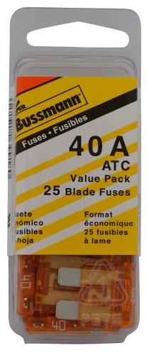 Bussmann (VP/ATC-40-RP) Orange 40 Amp 32V Fast Acting ATC Blade Fuse, (Pack of 25)