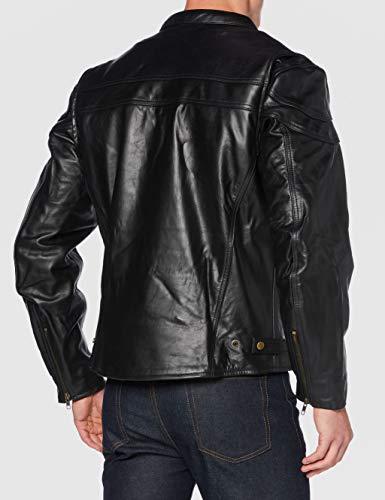 STURGIS (Monza Naked Rindsleder CE und belüftet Motorrad Jacke schwarz schwarz XXXX-Large - 4