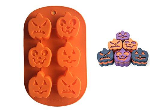 FantasyDay® 2 Stück Silikon Backform/Muffinform für Muffins, Cupcakes, Kuchen, Pudding, Eiswürfel und Gelee - Halloween Kürbis Silikonform für Eindrucksvolle Kreationen, Hochwertige Silikon-Kuchenform