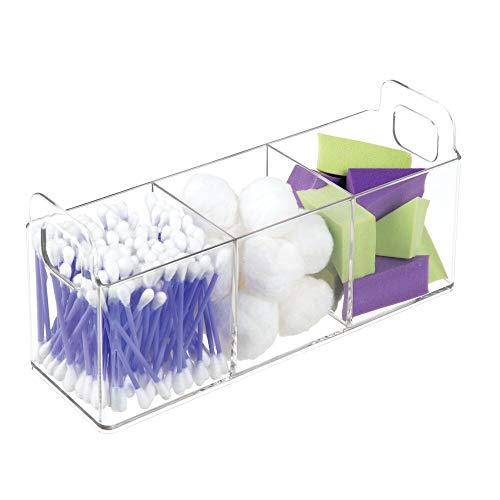 mDesign Organizador de maquillaje – Gran caja organizadora baño para cosméticos y...