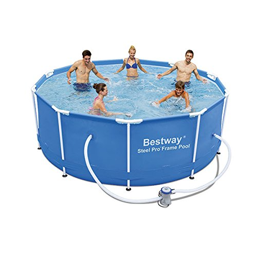 Bestway Steel Pro - Piscina de 305 x 100 cm, 6.148 l: Amazon ...