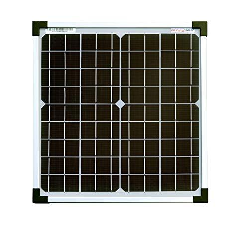 enjoysolar® Mono 20W Solarpanel - Solarmodul Solarzelle Photovoltaik, Monokristallin 20 W, 12 V